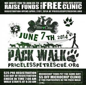 Pack Walk 2014 – Priceless Pets Pittie Crew